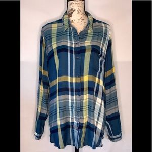 Lucky Brand Flannel  Boyfriend So Soft  Size XL